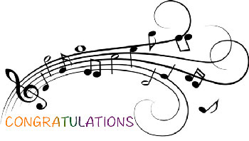 Congratulations music students thunderbirdproud for Note musicali dwg