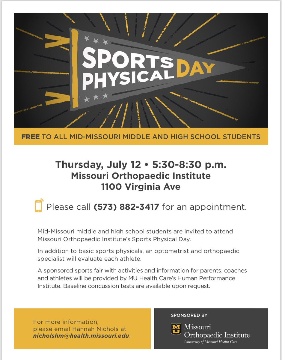 Free Sports Physicals Thunderbirdproud
